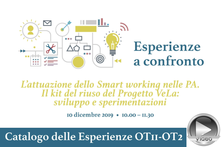 Video e materiali webinar Smart Working Progetto VeLA